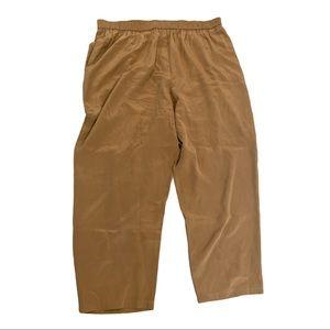 Diane Von Furstenberg Silk Beige Tan Flair Pants